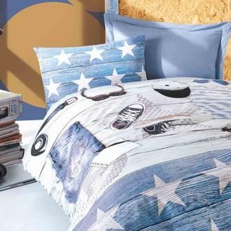 Комплект подросткового постельного белья Cotton Box GIRLS & BOYS MODUS хлопковый ранфорс (голубой)