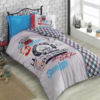 Комплект подросткового постельного белья Cotton Box GIRLS & BOYS MAJOR хлопковый ранфорс (бирюзовый)