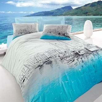 Комплект постельного белья Cotton Box MARITIME MARINA хлопковый ранфорс (голубой)
