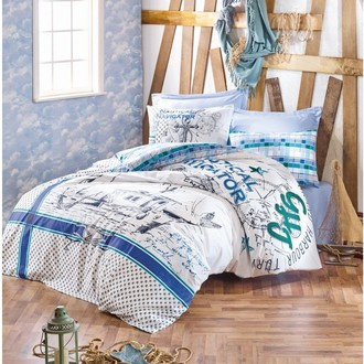 Комплект постельного белья Cotton Box MARITIME VIRA хлопковый ранфорс (голубой)