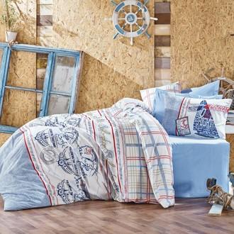 Постельное белье Cotton Box MARITIME SEAPORT хлопковый ранфорс (голубой)