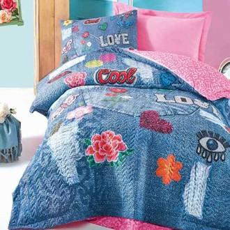 Комплект подросткового постельного белья Cotton Box GIRLS & BOYS KELLY хлопковый ранфорс (розовый)