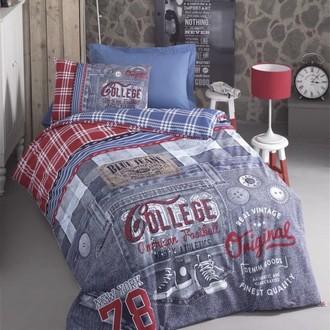 Комплект подросткового постельного белья Cotton Box GIRLS & BOYS BLUE JEANS хлопковый ранфорс (голубой)