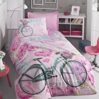 Комплект подросткового постельного белья Cotton Box GIRLS & BOYS BIKE хлопковый ранфорс (розовый)