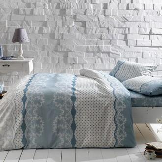 Комплект постельного белья TAC HAPPY DAYS SALLY хлопковый ранфорс (голубой)