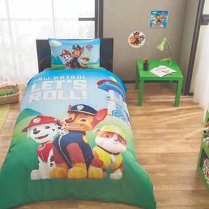 Детское постельное белье TAC PAW PATROL хлопковый ранфорс 1,5 спальный