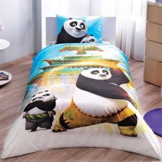 Детское постельное белье TAC KUNG FU PANDA MOVIE хлопковый ранфорс