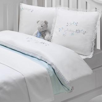 Постельное белье для новорожденных Tivolyo Home COUPLE BEBE хлопковый сатин голубой