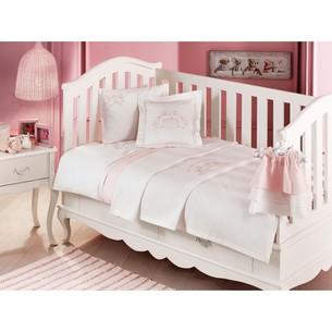 Постельное белье для новорожденных Tivolyo Home FAMILY BEBE хлопковый сатин розовый