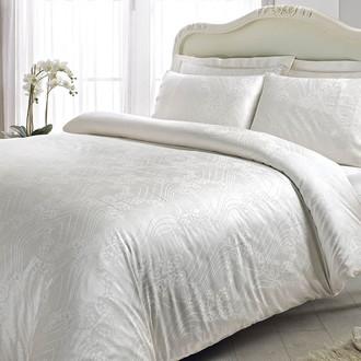 Комплект постельного белья Tivolyo Home PRINCESS бамбуковый сатин-жаккард (белый)