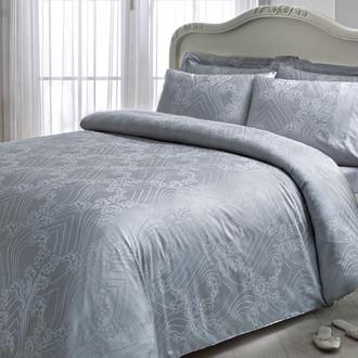 Комплект постельного белья Tivolyo Home PRINCESS бамбуковый сатин-жаккард (серый)