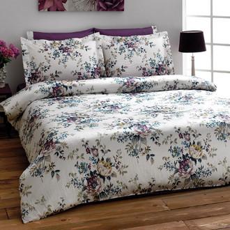 Комплект постельного белья Tivolyo Home REGATTA сатин, жатый шёлк (фиолетовый)