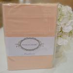 Простынь Tivolyo Home хлопковый сатин делюкс персиковый 260х300, фото, фотография