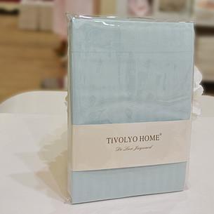 Простынь Tivolyo Home хлопковый сатин делюкс бирюзовый 240х260