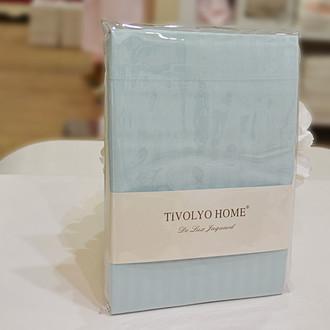 Простынь Tivolyo Home хлопковый сатин делюкс (бирюзовый)