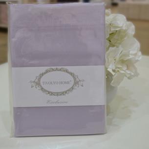 Простынь Tivolyo Home хлопковый сатин делюкс лиловый 260х300