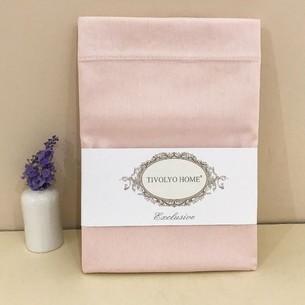 Простынь Tivolyo Home хлопковый сатин делюкс розовый 260х300