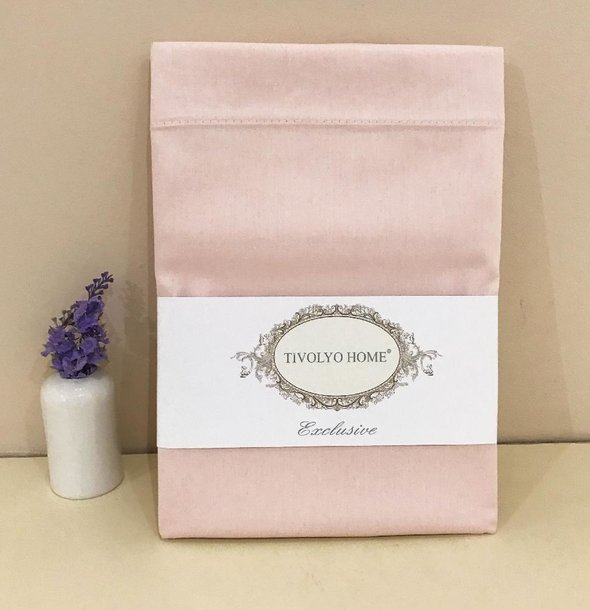 Простынь Tivolyo Home хлопковый сатин делюкс (розовый) 260*300, фото, фотография