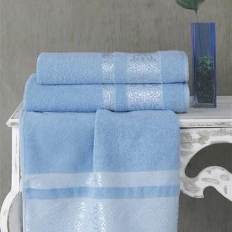 Полотенце для ванной Karna REBEKA махра хлопок голубой