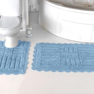 Набор ковриков для ванной Modalin ANCOR хлопок светло-голубой
