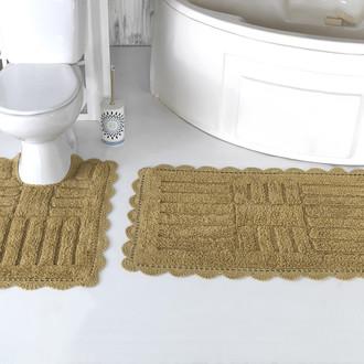 Набор ковриков для ванной Modalin ANCOR хлопок тёмно-бежевый