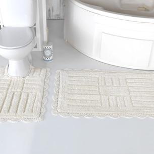 Набор ковриков для ванной Modalin ANCOR хлопок кремовый