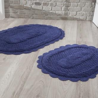 Набор ковриков Modalin LOKAL хлопок (синий)