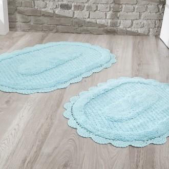 Набор ковриков Modalin LOKAL хлопок (светло-бирюзовый)