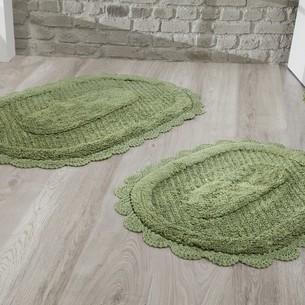 Набор ковриков Modalin LOKAL хлопок тёмно-зелёный
