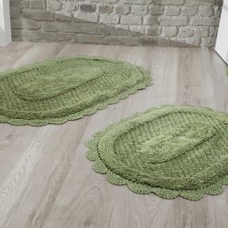 Набор ковриков Modalin LOKAL хлопок (тёмно-зелёный)