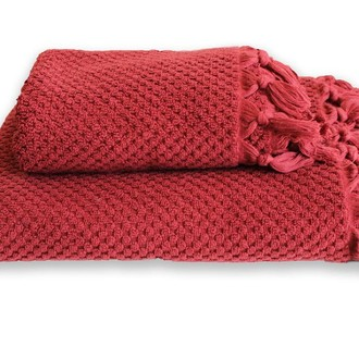 Полотенце для ванной Buldan's CAKIL махра бордовый