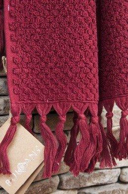 Полотенце для ванной Buldan's CAKIL махра бордовый 50*90, фото, фотография