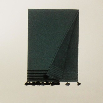 Полотенце-палантин (пештемаль) Buldan's CAPRI хлопок (серо-зелёный)