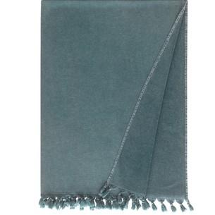Полотенце-палантин пештемаль Buldan's GAIA хлопок серо-зелёный 90х170