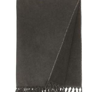 Полотенце-палантин пештемаль Buldan's GAIA хлопок тёмно-серый 90х170
