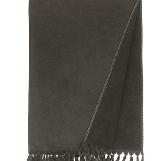 Полотенце-палантин пештемаль Buldan's GAIA хлопок тёмно-серый