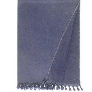 Полотенце-палантин пештемаль Buldan's GAIA хлопок тёмно-синий 90х170