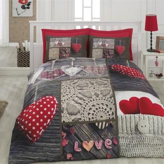 Комплект постельного белья Cotton Box 3D LIFE NINA хлопковый ранфорс (красный)