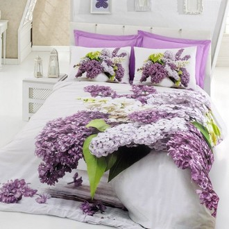 Комплект постельного белья Cotton Box 3D LIFE VILMA хлопковый ранфорс (лиловый)