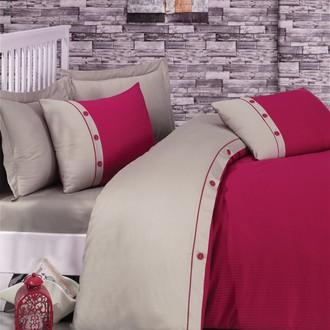 Комплект постельного белья Cotton Box FASHION LINE хлопковый страйп-сатин делюкс (фуксия)