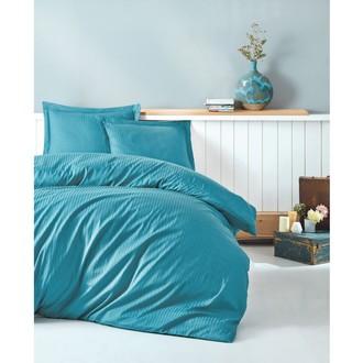 Комплект постельного белья Cotton Box ELEGANT хлопковый страйп-сатин делюкс (бирюзовый)