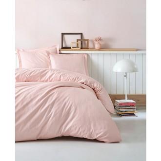 Комплект постельного белья Cotton Box ELEGANT хлопковый страйп-сатин делюкс (пудра)