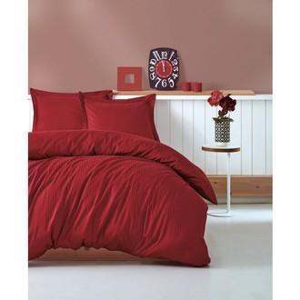 Постельное белье Cotton Box ELEGANT хлопковый страйп-сатин делюкс бордовый