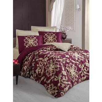 Комплект постельного белья Cotton Box SATEN TAYLOR хлопковый сатин (бордовый)