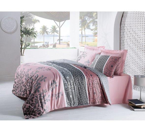 Комплект постельного белья Cotton Box SATEN MAHIDEVRAN хлопковый сатин (пудра) евро, фото, фотография
