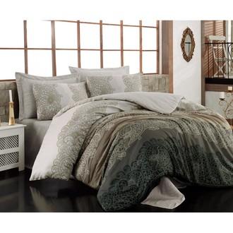 Комплект постельного белья Cotton Box SATEN SAFIYE хлопковый сатин (бежевый)