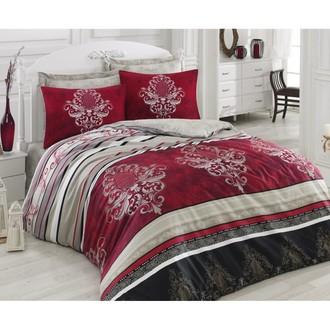 Комплект постельного белья Cotton Box SATEN AZRA хлопковый сатин (бордовый)