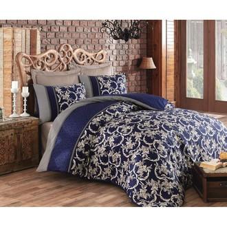 Комплект постельного белья Cotton Box SATEN PERA хлопковый сатин (синий)