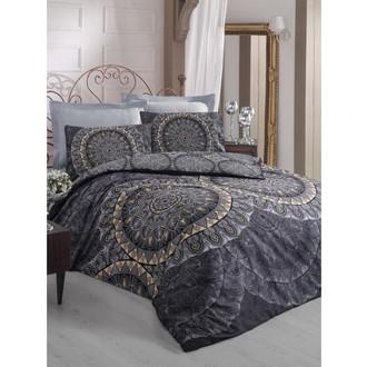 Комплект постельного белья Cotton Box SATEN ELENOR хлопковый сатин (чёрный)