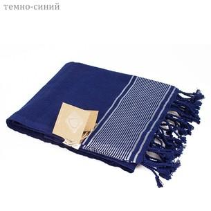 Полотенце-палантин пештемаль Buldan's TUANA хлопок тёмно-синий 50х90